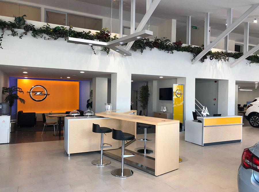Opel showrooms, Europe